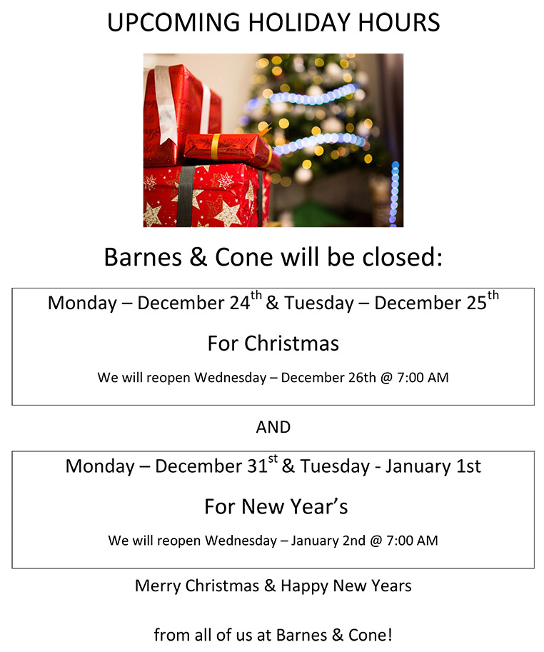 christmas and new years - HOLIDAY HOURS 2018